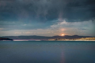Poster featuring the photograph Moonrise At Mono Lake by Alexander Kunz