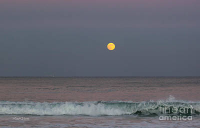 Poster featuring the photograph Moonrise At Sunset by Michelle Wiarda