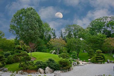 Moonrise Meditation Poster by Charles Warren