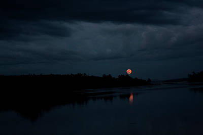 Moonrise Over Blue Hill Bay Poster