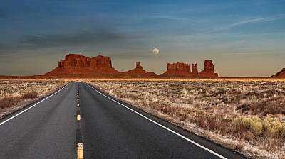 Poster featuring the photograph Moonrise Over Monument Valley by Lou Novick