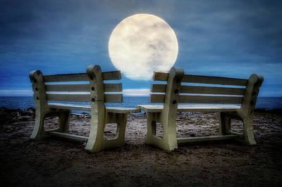 Moonstruck Poster by Debra and Dave Vanderlaan