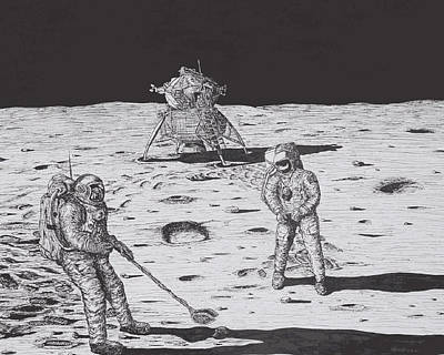 Moonwalk -1969 Poster by Larry Oldham