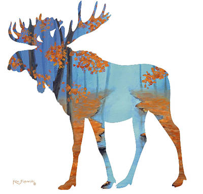 Moose Cool Warmth Of Autumn Poster by Ken Figurski
