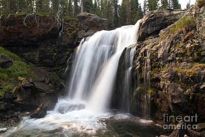 Moose Falls Yellowstone National Park Poster