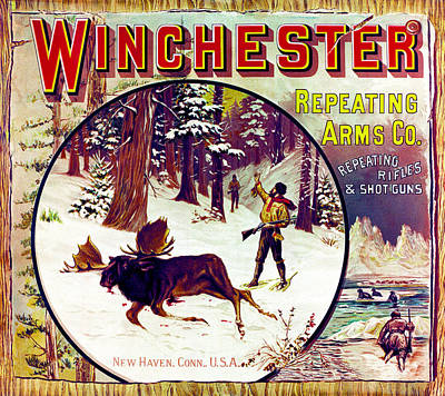 Poster featuring the painting Moose Hunter by Unknown