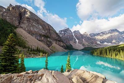 Moraine Lake Banff National Park Poster by Joan Carroll