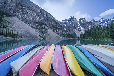 Moraine Lake Colors Poster by Alpha Wanderlust