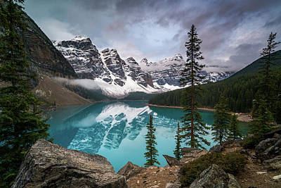 Moraine Lake In The Canadaian Rockies Poster