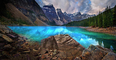 Poster featuring the photograph Moraine Lake by John Poon