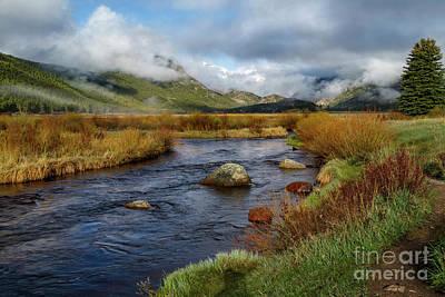 Moraine Park Morning - Rocky Mountain National Park, Colorado Poster by Ronda Kimbrow