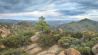 Poster featuring the photograph Morena Valley And Los Pinos Mountain by Alexander Kunz