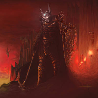 Morgoth In Angband Poster by Rick Ritchie