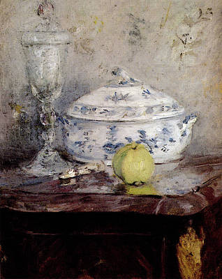 Morisot Berthe Tureen And Apple Poster by Berthe Morisot