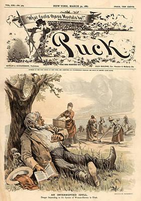 Mormon Cartoon, 1887 Poster by Granger
