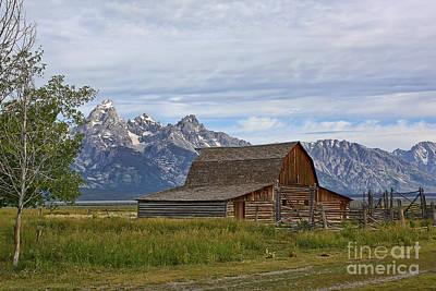 Mormon Row Barn And Grand Tetons Poster