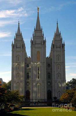 Mormon Temple Fall Poster by David Lee Thompson