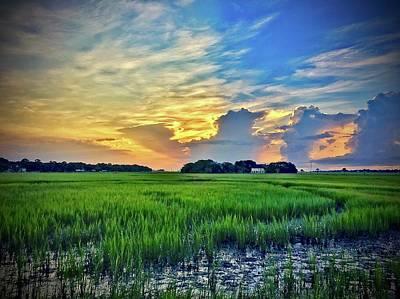 Morning Across The Marsh Poster by Bonnes Eyes Fine Art Photography