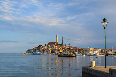 Morning Aquarelle In Rovinj Poster by Davorin Mance