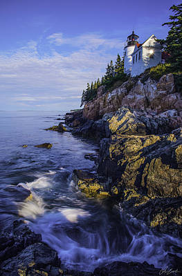 Morning At Bass Harbor Lighthouse Poster