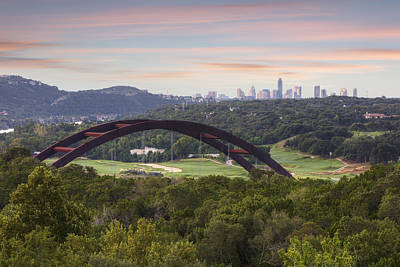 Morning At The 360 Bridge Near Austin Texas 1 Poster by Rob Greebon