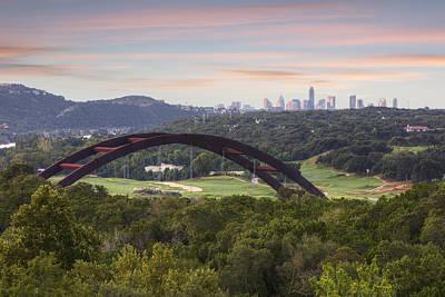 Morning At The 360 Bridge Near Austin Texas 1 Poster