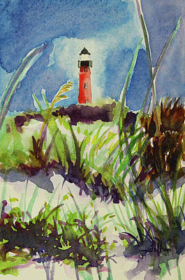 Morning At The Lighthouse Poster