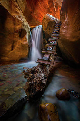 Poster featuring the photograph Morning Canyon Glow // Kanarra Falls, Utah by Nicholas Parker