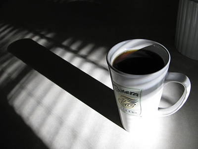 Poster featuring the photograph Morning Coffee by Lindie Racz