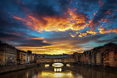 Morning Drama Over Florence Poster by Andrew Soundarajan