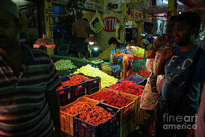 Poster featuring the photograph Morning Flower Market Colors by Mike Reid