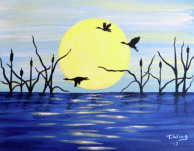 Morning Geese Poster
