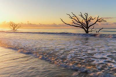 Morning Glow At Botany Bay Beach Poster