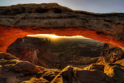 Morning Glow At Mesa Arch Poster by Ryan Smith