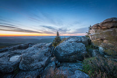Monongahela National Forest Wilderness Morning Light Poster