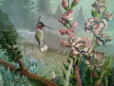 Morning Hummingbird Poster
