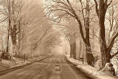 Morning Ice And Fog Poster by Deborah Benoit