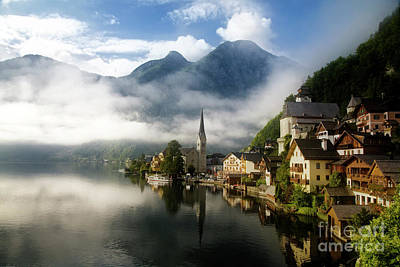 Poster featuring the photograph Morning In Hallstatt by Scott Kemper