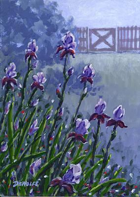 Morning Iris Poster by Richard De Wolfe