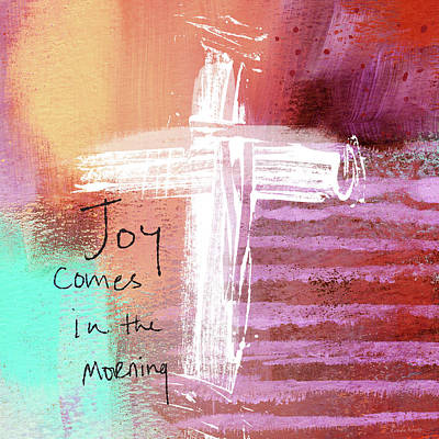 Morning Joy- Abstract Art By Linda Woods Poster