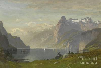 Morning Lake Lucerne Poster