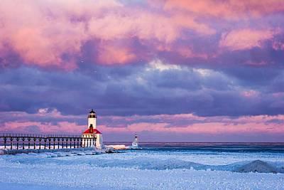 Morning Light In Michigan City Poster