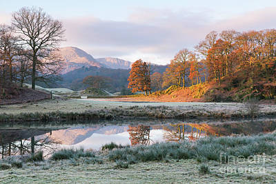 Morning Light Over The Brathay Poster by Tony Higginson