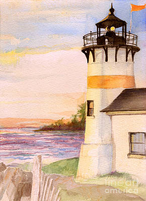 Morning, Lighthouse Poster