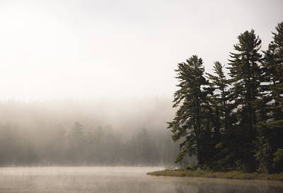 Morning Mist On Mew Lake Poster by Cale Best