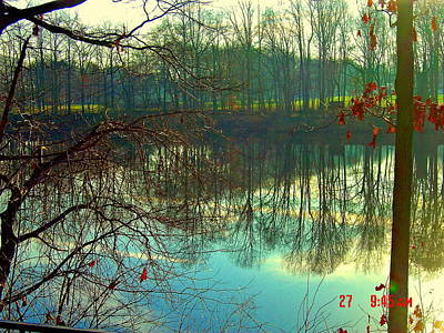 Morning On Farrington Lake Poster by Aron Chervin
