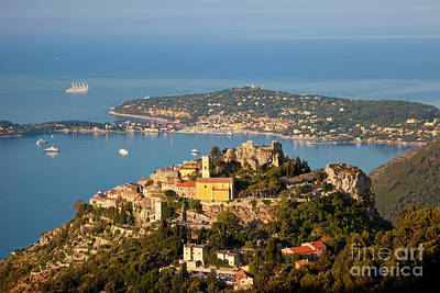 Morning Over Eze Poster by Brian Jannsen