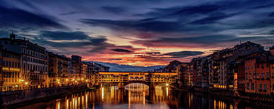 Morning Panorama In Florence Poster by Andrew Soundarajan