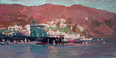 Morning Pleasures - Catalina Harbor Poster