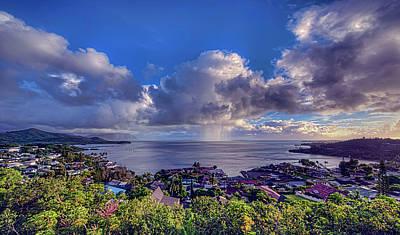 Morning Rain In Kaneohe Bay Poster